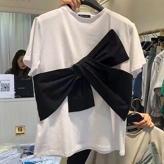 ZARA - リボン Tシャツ