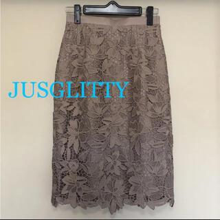 JUSGLITTY - ジャスグリッティー ケミカルレースタイトスカート