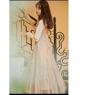 スナイデル(snidel)のHerlipto Lace Trimmed Satin Cami Dress(ロングワンピース/マキシワンピース)