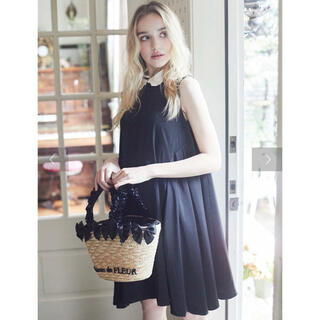Maison de FLEUR - 【新品タグ付き】sweetコラボパール襟ノースリーブドレス