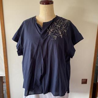フォーティーファイブアールピーエム(45rpm)のパラスパレス購入numo 濃紺カットソー(シャツ/ブラウス(長袖/七分))