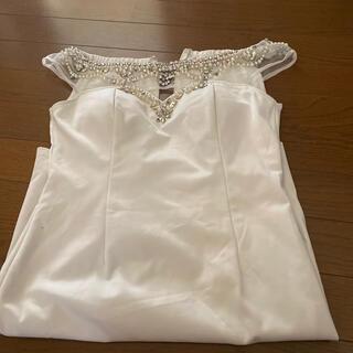 白 肩スケ オフショル ドレス(ナイトドレス)