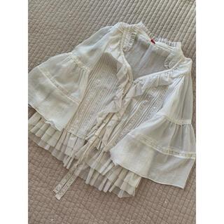 ダブルスタンダードクロージング(DOUBLE STANDARD CLOTHING)のDOUBLE STANDARD CLOTHING レース ホワイト ブラウス(シャツ/ブラウス(長袖/七分))