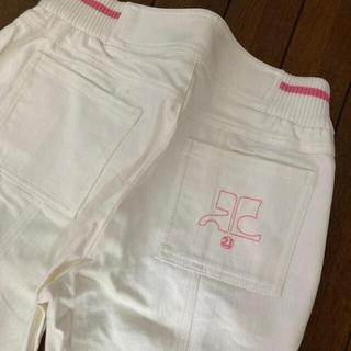 クレージュ(Courreges)の【専用】クレージュ ホワイトジーンズ&ポロシャツ(デニム/ジーンズ)