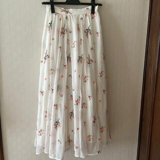 エルディープライム(LD prime)のLDprime 刺繍ロングスカート(ロングスカート)
