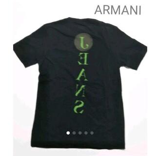 アルマーニジーンズ(ARMANI JEANS)のイタリア購入 アルマーニジーンズ  ブラックTシャツ Mサイズ(Tシャツ/カットソー(半袖/袖なし))