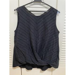 アウィーエフ(AuieF)のAuieFノースリーブデザインブラウス/Tシャツ(シャツ/ブラウス(半袖/袖なし))