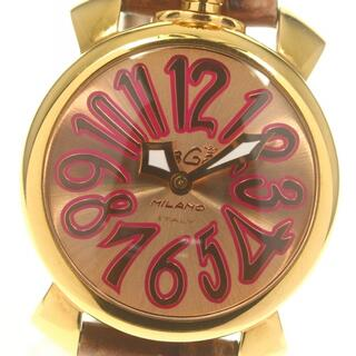 ガガミラノ(GaGa MILANO)のガガミラノ マヌアーレ40MM  5021.8 クォーツ レディース 【中古】(腕時計)