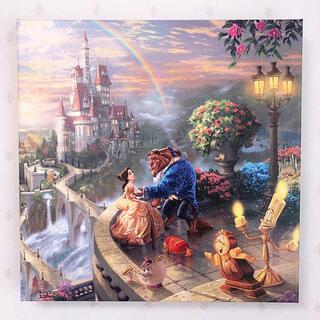 Disney - トーマスキンケード ディズニー 美女と野獣① ウォールアート キャンバス 絵画
