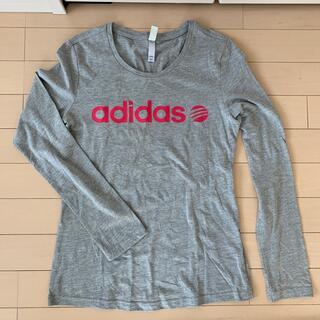 アディダス(adidas)のadidas グレーロンTシャツ(OT)(Tシャツ(長袖/七分))