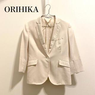 ORIHICA - 【ORIHIKA】テーラードジャケット 七分袖 春夏 アイボリー