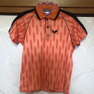 バタフライ(BUTTERFLY)のButterfly バタフライ♡卓球 ポロシャツ レディース オレンジ(卓球)