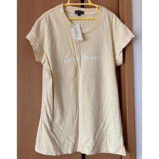 アールジーン(Earl Jean)のタグ付き新品 アールジーン Tシャツ Sサイズ クリーム色 レディース(Tシャツ(半袖/袖なし))