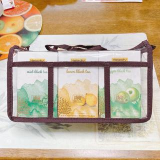 母の日のプレゼントに♡ 香りの小びん&クリアバッグ&カード付 ティーセット E(茶)