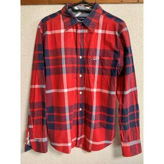 トミー(TOMMY)のTOMMY (トミー)赤 チェック シャツ(Tシャツ/カットソー(七分/長袖))