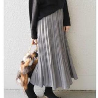 シップスフォーウィメン(SHIPS for women)のプリーツスカート【グレー】(ロングスカート)