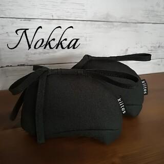 ストウブ(STAUB)のNokka『ノッカ』鍋つかみ✧cocca 国産オーガニックコットン✧ブラック(キッチン小物)