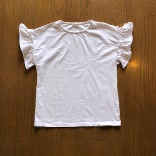 GU - 新品・未使用品★GU 白Tシャツ 150 ホワイト 袖フリル