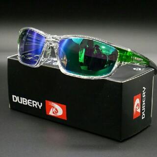 【スポーツ用】DUBERY軽量偏光サングラス グリーン オークリー・タレックス型(サングラス/メガネ)