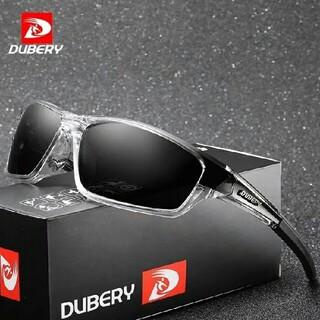 【スポーツ用】DUBERY軽量偏光サングラス ブラック オークリー・タレックス型(サングラス/メガネ)