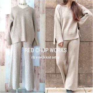 TODAYFUL - 美品【RED CHOP WORKS◆CANALJEAN】リブニットセットアップ