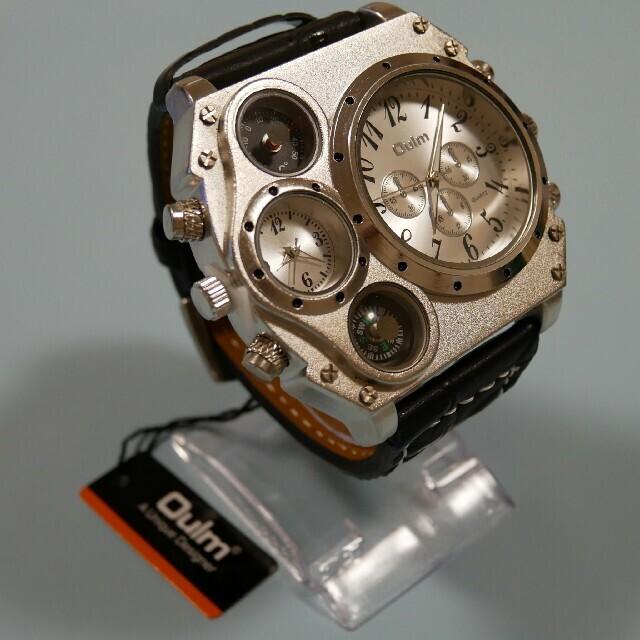 【新品・海外限定品】ビックフェイス クロノグラフ メンズ デュアル腕時計 メンズの時計(腕時計(アナログ))の商品写真