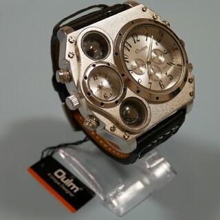 【新品・海外限定品】ビックフェイス クロノグラフ メンズ デュアル腕時計(腕時計(アナログ))