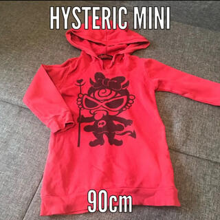 ヒステリックミニ(HYSTERIC MINI)のHYSTERIC MINI デビル ミニ ワンピース 90 赤 ヒスミニ 綿(ワンピース)