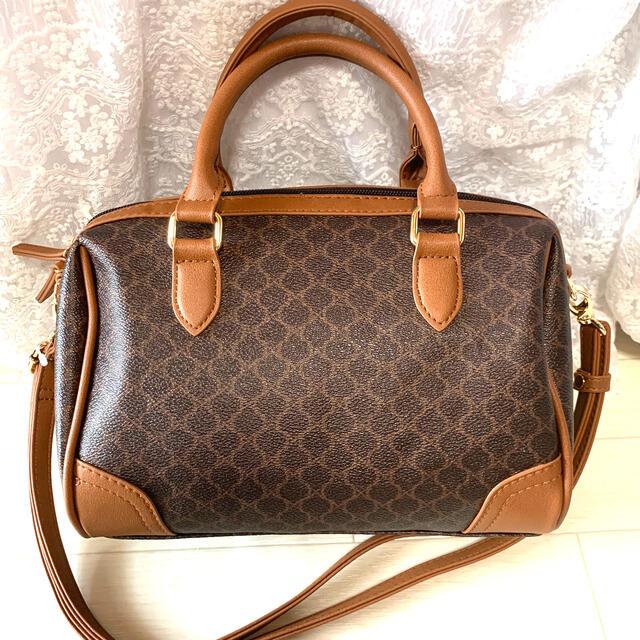 SNOOPY(スヌーピー)のしまむら マカダム柄 スヌーピー ボストン バッグ レディースのバッグ(ボストンバッグ)の商品写真