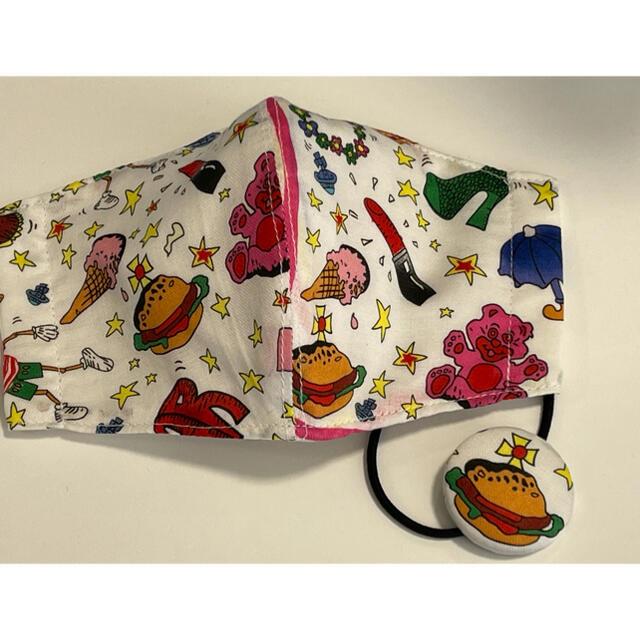 Vivienne Westwood(ヴィヴィアンウエストウッド)のインナーマスクとクルミボタンヘアゴム ハンドメイドのファッション小物(その他)の商品写真