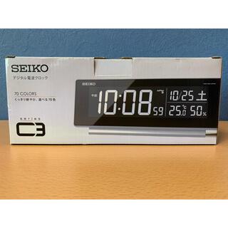 SEIKO - 【未使用品 】 SEIKO デジタル電波クロック シリーズC3(DL207S)