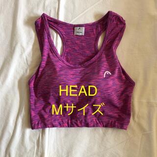 ヘッド(HEAD)のHEAD スポーツウエア ピンク系柄 トップス Mサイズ(ヨガ)