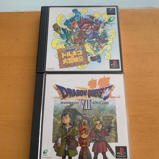 プレイステーション(PlayStation)のPS ソフト バラエティ 2本(家庭用ゲームソフト)