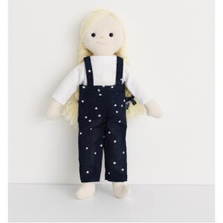 ボンポワン(Bonpoint)のチェックアンドストライプ  お人形 お着替え キット(生地/糸)