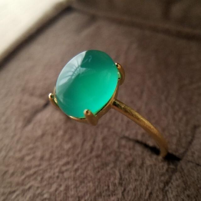 silver925◆グリーンオニキスリング.1 ハンドメイドのアクセサリー(リング)の商品写真
