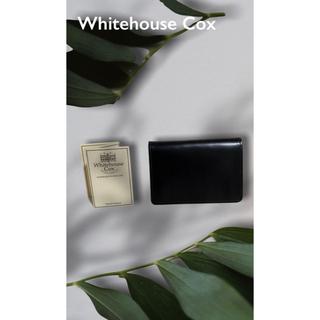 ホワイトハウスコックス(WHITEHOUSE COX)の極美品 Whitehouse Cox ホワイトハウスコックス カードケース(名刺入れ/定期入れ)