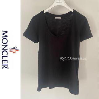 MONCLER - 【国内正規品・美品】モンクレール 半袖Tシャツ Uネック ブラック S