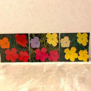 アンディウォーホル(Andy Warhol)のアンディ・ウォーホル Flowers アートポスター 3枚セット(絵画/タペストリー)
