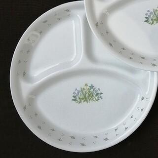 コレール(CORELLE)の未使用に近い ランチプレート 2枚 大皿 コレール ハーブ カントリー(食器)