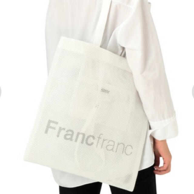 Francfranc(フランフラン)のFrancfranc  ロゴトートバック メッシュ レディースのバッグ(トートバッグ)の商品写真