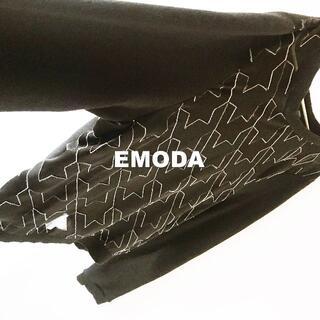 EMODA - 【EMODA】エモダ hound's tooth シースルー カットソー