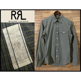 ダブルアールエル(RRL)の美品 RRL ダブルアールエル ビンテージ 加工 ブラックウォッチ シャツ S(シャツ)