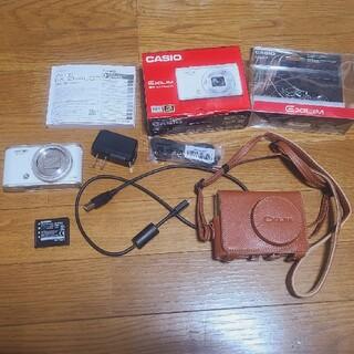 カシオ(CASIO)のカシオ EX-ZR4000と本革ジャケットケース(コンパクトデジタルカメラ)