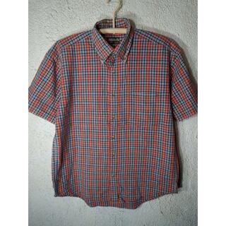 エドウィン(EDWIN)のo2653 EDWIN 半袖 チェック デザイン ボタンダウン シャツ 人気(シャツ)