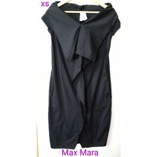 マックスマーラ(Max Mara)のMax Mara マックスマーラ ブラック 半袖 ワンピース(ひざ丈ワンピース)