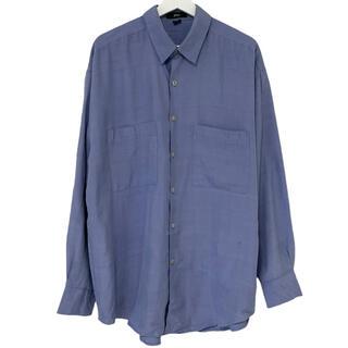 フランクリーダー(FRANK LEDER)の80's デッドストック phiz シャツ シルク ライトブルー L(シャツ)