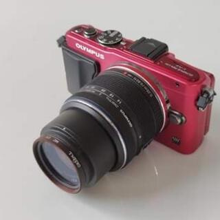 OLYMPUS - OLYMPUS PEN Lite E-PL6 RED ミラーレス