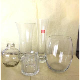中古 花瓶4点セット + オマケ(花瓶)