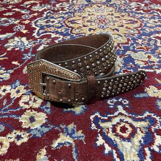 JOHN LAWRENCE SULLIVAN - VINTAGE bijou & studs over-buckle belt