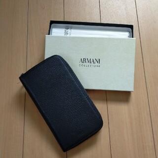 アルマーニ コレツィオーニ(ARMANI COLLEZIONI)の新品未使用☘ARMANI COLLEZIONI 長財布 ブラック(長財布)
